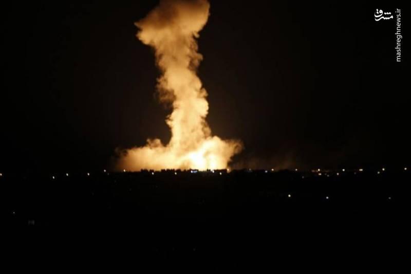 حمله موشکی اسرائیل به زمین های کشاورزی در نوار غزه