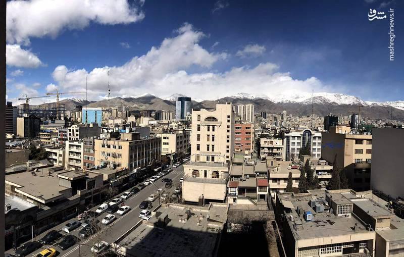 آسمان امروز تهران(دوشنبه ۳۰ بهمن ۱۳۹۶)