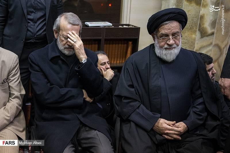 سید محمدعلی شهیدی و علی لاریجانی