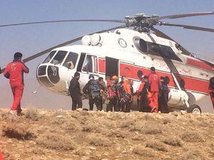 حمله با سنگ به هلیکوپترهای هلال احمر