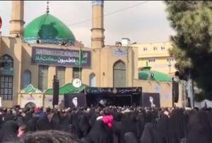 فیلم/ عزاداران حضرت زهرا(س) در میدان تهرانی مقدم