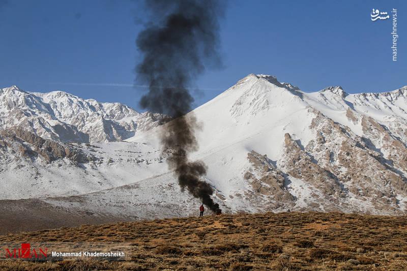 سومین روز جستجوی لاشه هواپیما در کوه دنا