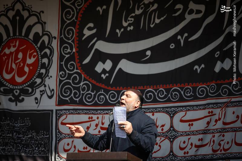 مداحی حاج حسین سازور در مراسم عزاداری فاطمیه در میدان هفت تیر تهران