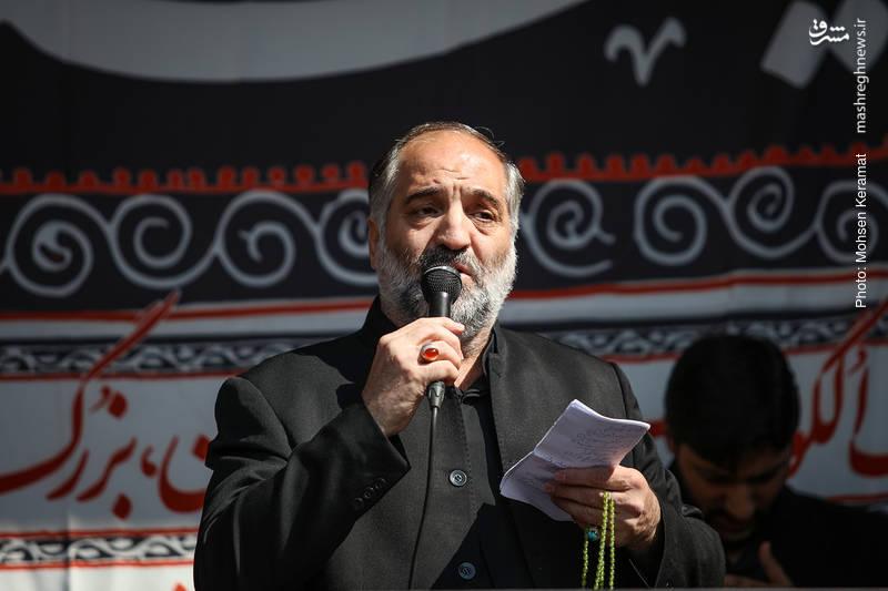 مداحی حاج نریمان پناهی در مراسم عزاداری فاطمیه در میدان هفت تیر تهران