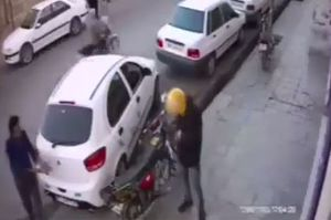 فیلم/ قتل به خاطر جای پارک ماشین در داراب