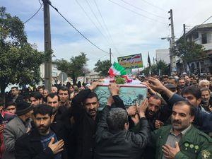 عکس/ تشییع ۲ شهید گمنام در مازندران