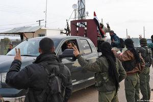 فیلم/ لحظه ورود نیروهای طرفدار دولت سوریه به عفرین