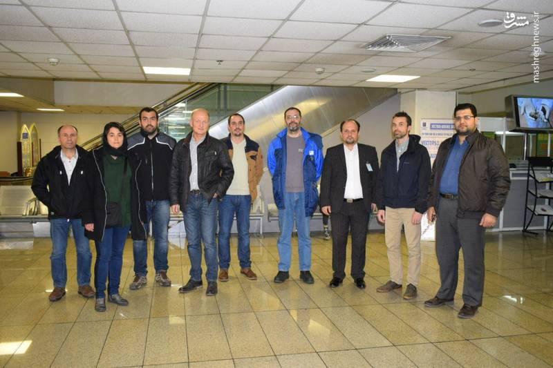 هیات ۷ نفره فرانسوی وارد تهران شدند +عکس