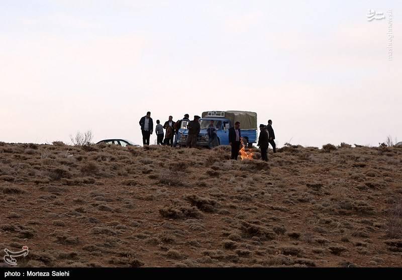 استقرار پنج گروه از نیروهای هلال احمر در منطقه لاشه هواپیما