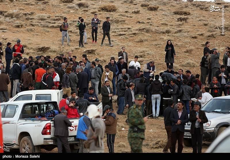 حضور مردم در منطقه سقوط هواپیمای ATR