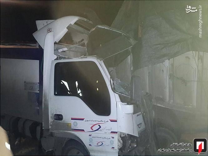 دراین حادثه سه سرنشین دیگر کامیونت ایسوزوشامل سه مرد 16، 18 و 32 ساله ازناحیه دست و صورت دچار مصدومیت شدند