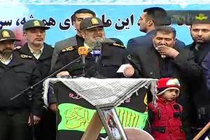 فیلم/ سخنرانی سردار اشتری در تشییع شهدای خیابان پاسداران