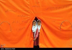 عکس/ مدارس کانکسی در منطقه زلزلهزده سرپل ذهاب