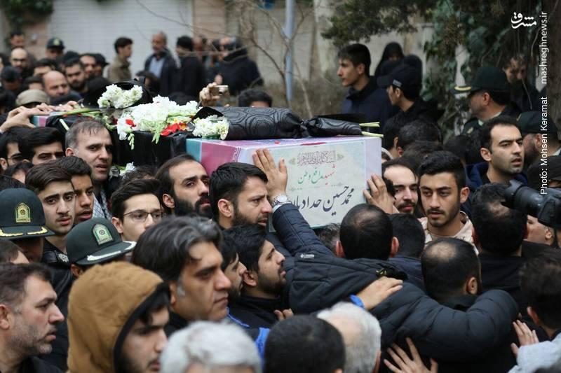 تشییع پیکر شهید خیابان پاسداران