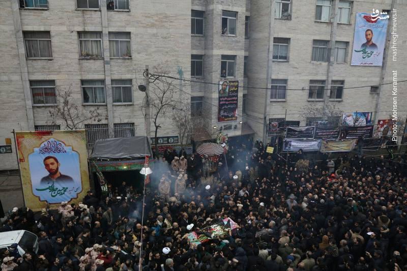 مراسم تشییع شهید بسیجی خیابان پاسداران؛ «محمدحسین حدادیان»