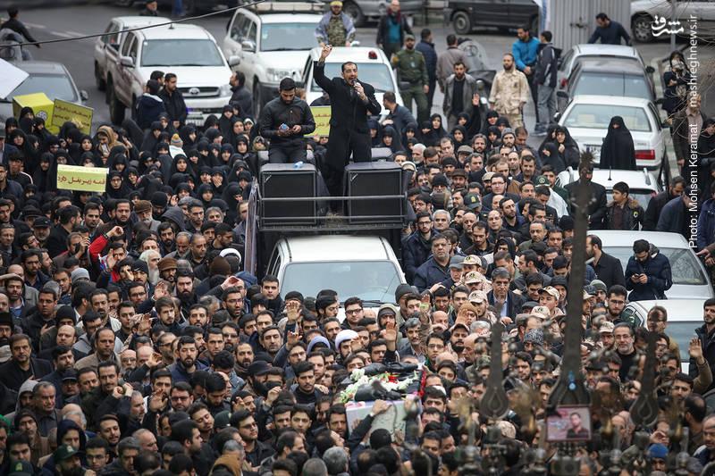تشییع پیکر شهید خیابان پاسداران؛ «محمدحسین حدادیان»