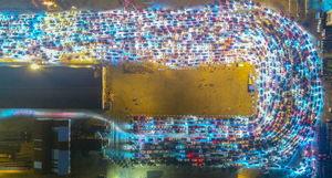 عکس/  21 هزار خودرو در ترافیک!