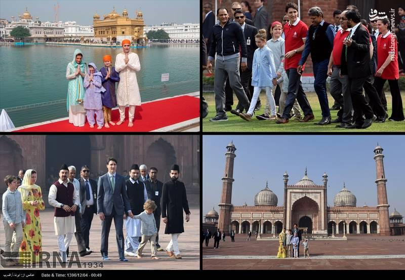 عکس/ سفر نخست وزیر کانادا به هند