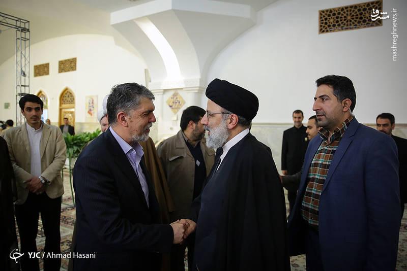 حجت الاسلام سید ابراهیم رئیسی- سید عباس صالحی وزیر ارشاد