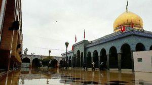 عکس/ بارش باران در حرم حضرت زینب (س)
