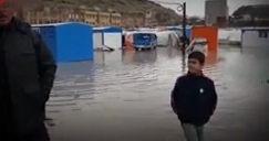 فیلم/ زلزلهزدگان کرمانشاهی در محاصره آب
