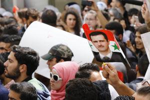 فیلم/ تجمع کُردهای عفرین در حمایت از بشار اسد