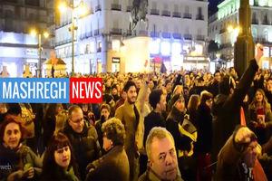 فیلم/ تظاهرات برای آزادی یک خواننده