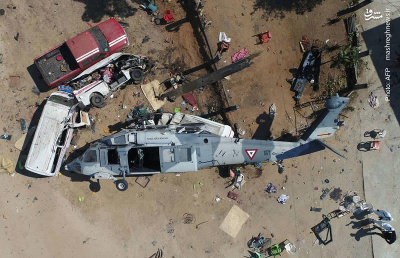 سقوط بالگرد وزیر مکزیک در جریان زلزله 7.2 ریشتری که به مرگ 13 نفر از جمله سه کودک انجامید.
