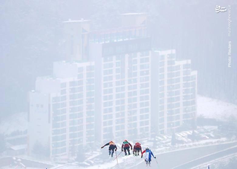 صحنهای از پرسش اسکیبازان در بازیهای المپیک زمستانی