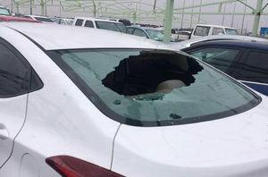 عکس/ خسارتهای بارش تگرگ شدید در عربستان