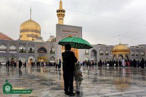 عکس/ بارش رحمت الهی در حرم امام رضا (ع)