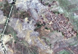 ارتش میانمار دهها روستای مسلمانان را نابود کرده است + تصاویر ماهوارهای