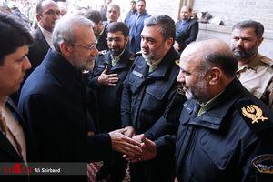 عکس/ لاریجانی در مجلس ترحیم شهدای خیابان پاسداران