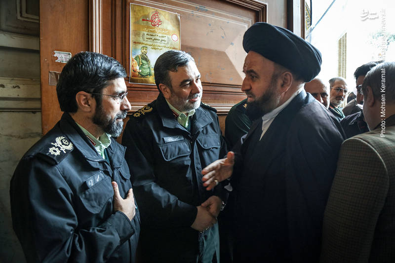 حجت الاسلام سیدمصطفی میرلوحی در مراسم ختم شهدای حافظ امنیت ناجا