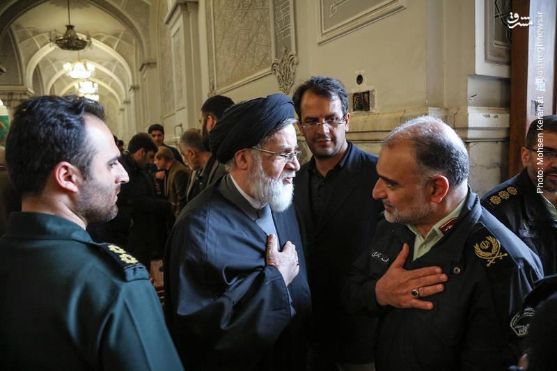 حجت الاسلام سید محمدعلی شهیدی در مراسم ختم شهدای حافظ امنیت ناجا