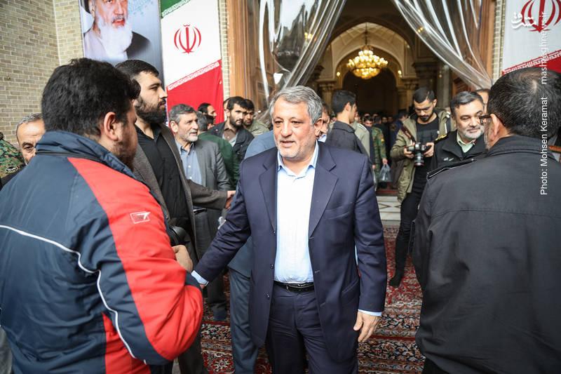 محسن هاشمی در مراسم ختم شهدای حافظ امنیت ناجا