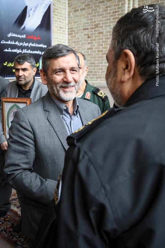 محمدحسین صفار هرندی در مراسم ختم شهدای حافظ امنیت ناجا