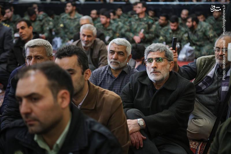 سردار اسماعیل قاآنی در  مراسم ختم شهدای حافظ امنیت ناجا