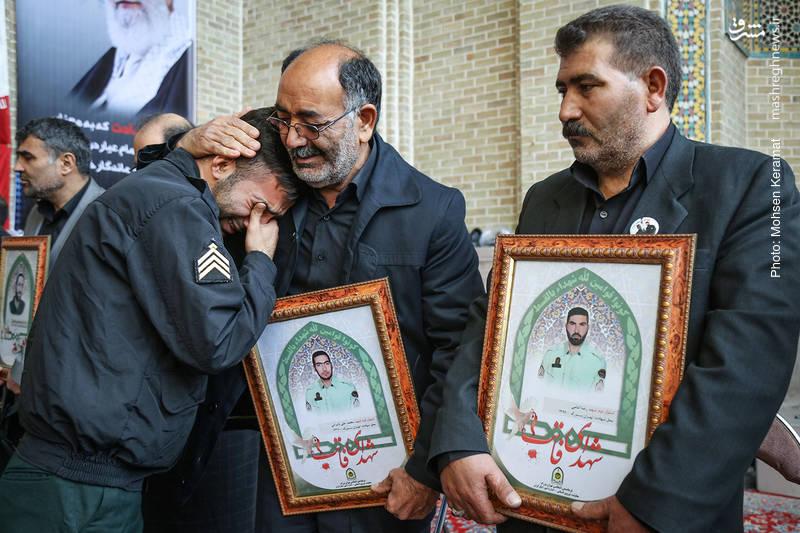 حضور خانواده شهدای حافظ امنیت ناجا