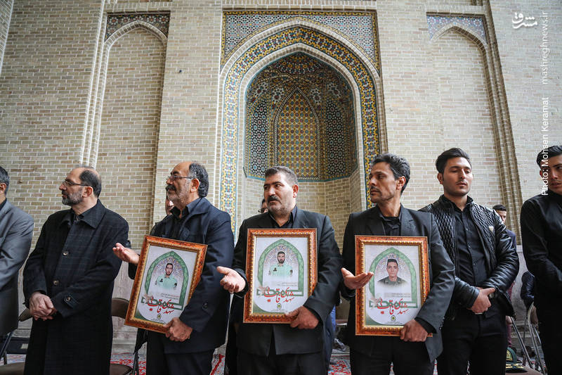 حضور خانواده شهدای حادثه خیابان پاسداران در این مراسم