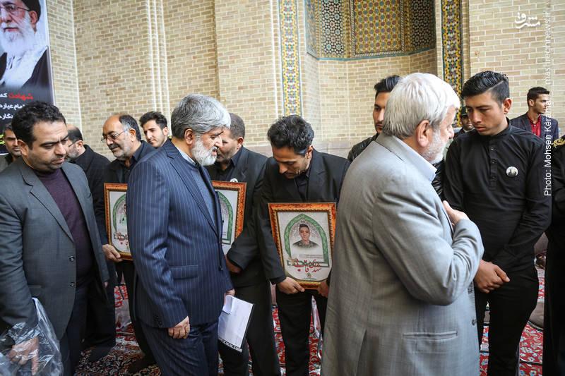 علی مطهری در مراسم ختم شهدای حافظ امنیت ناجا