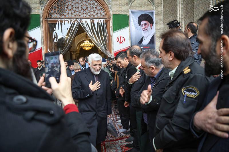 سعید جلیلی در مراسم ختم شهدای حافظ امنیت ناجا
