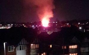 عکس/ انفجار مهیب در ساختمانی در انگلیس