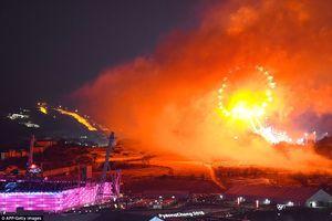 فیلم/ مراسم آتش بازی اختتامیه المپیک زمستانی