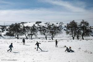 تصاویری از بارش برف در مراکش