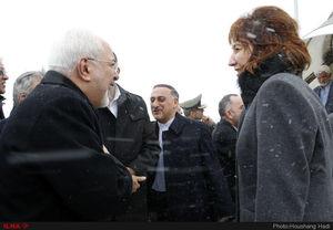 عکس/ هوای برفی بلگراد در لحظه ورود ظریف به صربستان