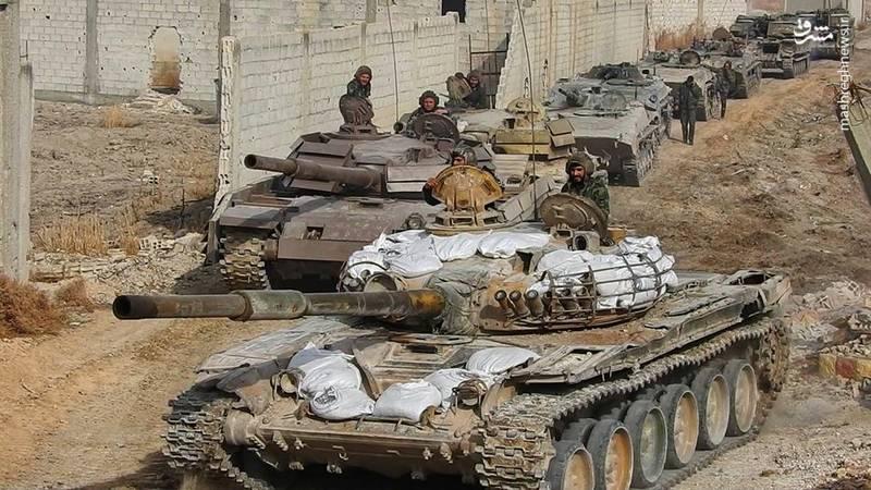 آغاز عملیات گسترده ارتش سوریه علیه تروریست های جبهه النصره در غوطه شرقی/ پاکسازی ۴ منطقه در غده سرطانی دمشق + نقشه میدانی