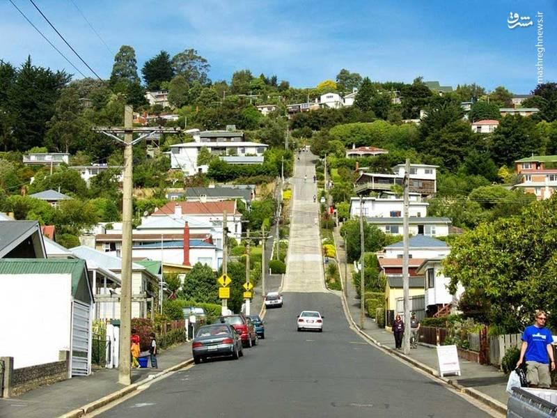 همه ی خانه هایی که در اطراف این خیابان ساخته شده اند کاملا کج دیده می شوند و منظره ای دیدنی ساخته اند.