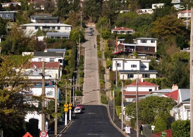 این خیابان در کمترین حالت خود ۳۵ درجه شیب دارد.