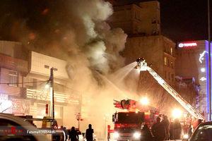عکس/ آتشسوزی در اتوبان ارتش تهران